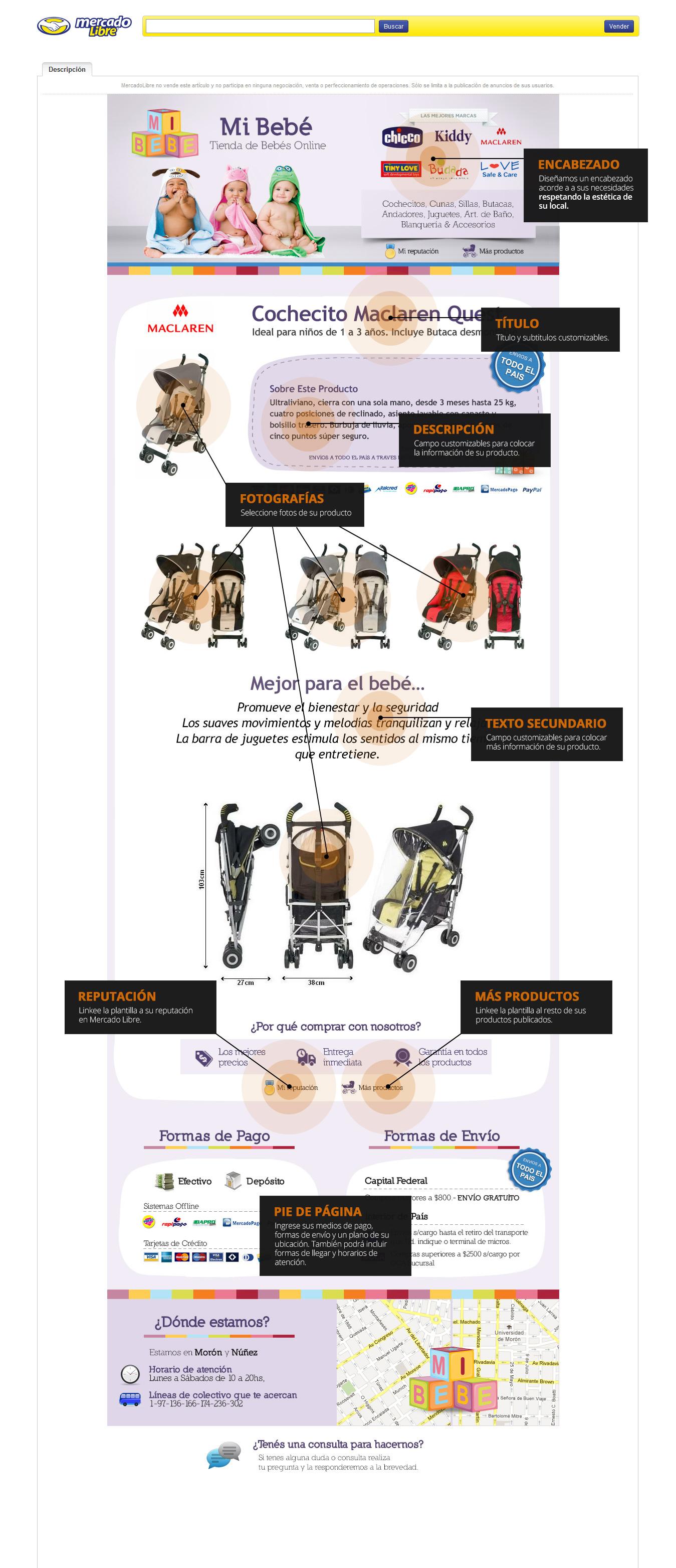Diseño de plantillas Mercado Libre | The Crew Studio